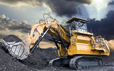 Caterpillar 6090 FS, Mining excavator, mining machinery, Cat 6090FS, excavators, coal mining, Caterpillar