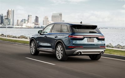 2020, Lincoln Corsair, rear view, exterior, luxury SUV, new blue Corsair, american cars, Lincoln
