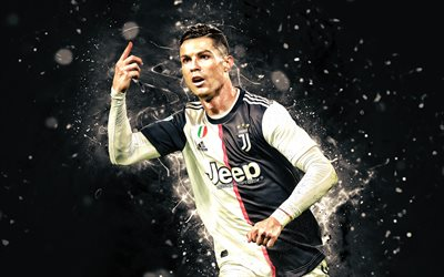 4k, Cristiano Ronaldo, 2019, Juventus FC, CR7, new uniform, goal, Italy, CR7 Juve, Bianconeri, soccer, football stars, Serie A, portuguese footballers