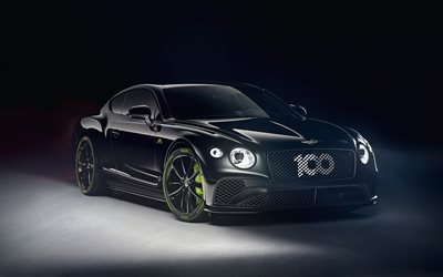 Bentley Continental GT Pikes Peak, 2020, front view, exterior, black luxury coupe, tuning Continental GT, British cars, Bentley
