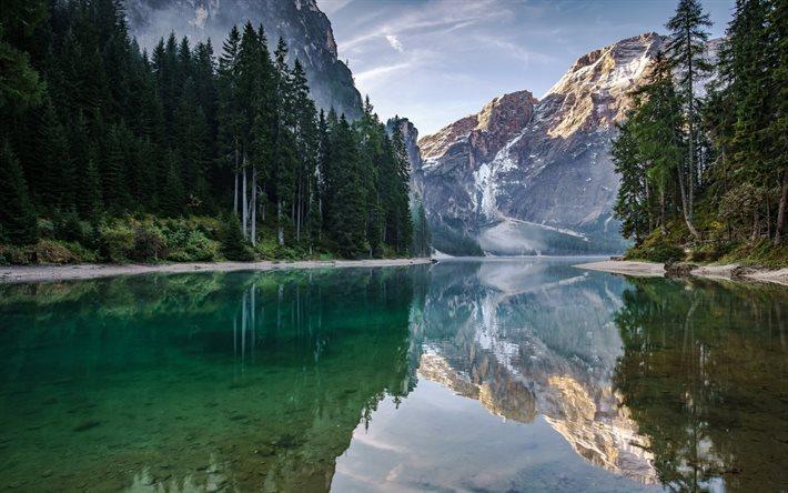Scarica sfondi montagna foresta lago di