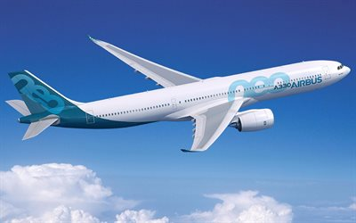 Airbus A330neo, new passenger plane, air travel concepts, plane in the sky, Airbus