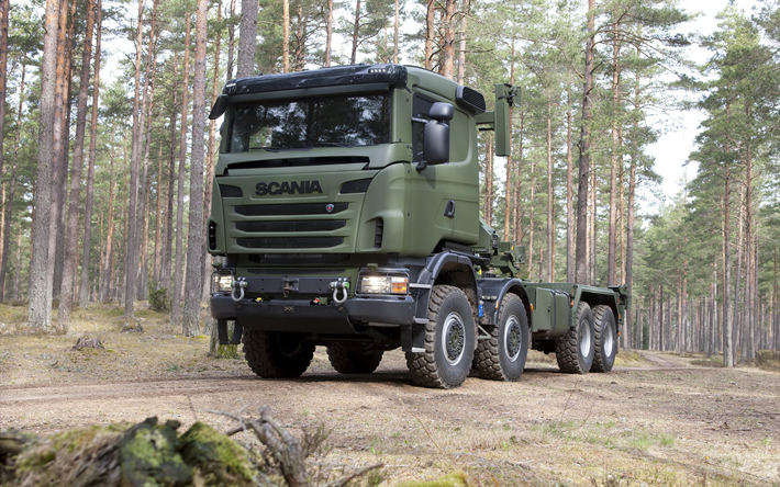 Download Wallpapers Scania R730 8x8 V8 Military Truck