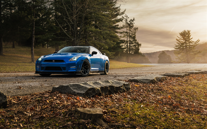 Download wallpapers Nissan GT-R, sports coupe, tuning ...