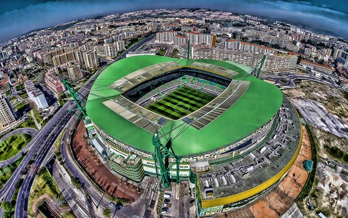 Download wallpapers Estadio Jose Alvalade, Lisbon, aerial view ...