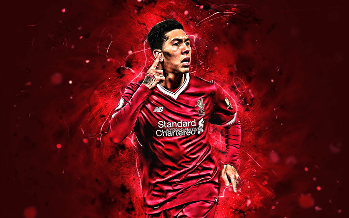 Download Wallpapers Roberto Firmino, Close-up, LFC, Soccer
