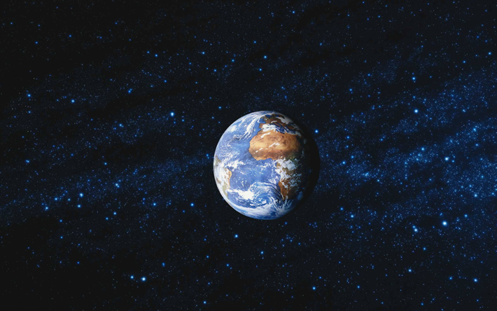 Earth, space, solar system, planet, stars