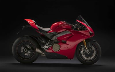4k, Ducati Panigale V4 R, studio, 2019 bikes, side view, red motorcycle, new Panigale, Ducati