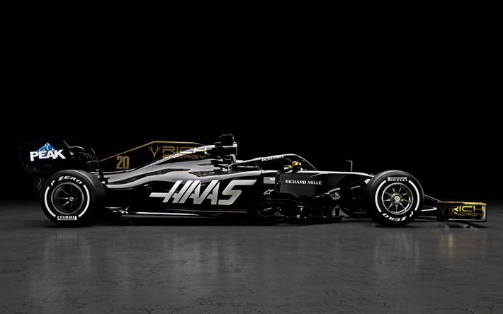Download Wallpapers Haas Vf 19 2019 Formula 1 New Racing Car 2019