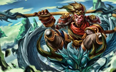 Wukong, MOBA, League of Legends, 2020 games, warrior, artwork, Wukong League of Legends