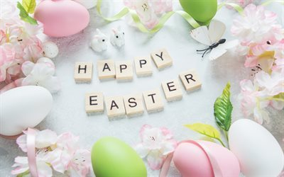 Easter, Spring, easter decoration, eggs, Happy Easter
