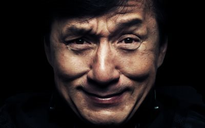 Jackie Chan, movie star, portrait, american actor