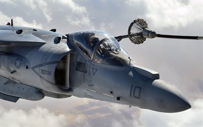 McDonnell Douglas, AV-8B Harrier II, Stormtrooper, US Air Force, refueling in air, AV-8B