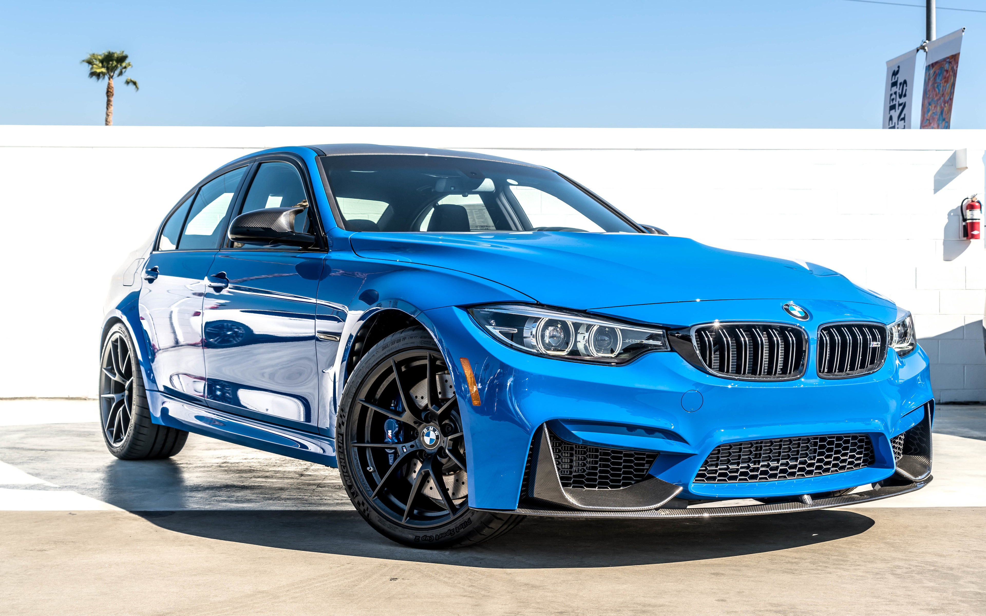 download wallpapers bmw m3 2018 4k exterior blue sedan. Black Bedroom Furniture Sets. Home Design Ideas