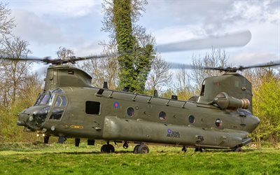 Boeing CH-47 Chinook, military helicopter, CH-47 Chinook, Boeing, NATO, Royal Air Force