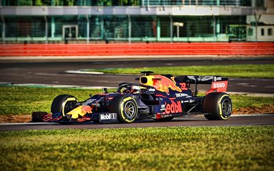 4k, Max Verstappen, chemin de câbles, Red Bull RB16, 2020 voitures de F1, studio, Formule 1, le bokeh, l'Aston Martin de Red Bull Racing, F1 2020, les nouvelles RB16, F1, Red Bull Racing à 2020, les voitures de F1, Red Bull Racing-Honda