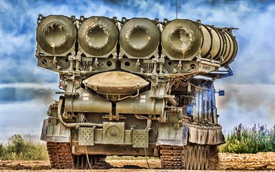 Antey-300V, SAM, anti-aircraft missile system, S-300V, Russian army, HDR