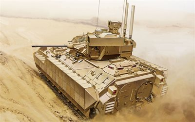 M3 Bradley, Infantry Fighting Vehicle, US Army, M3 Bradley Cavalry Fighting Vehicle, desert, M3 Tracked Armoured Fighting Vehicles, USA