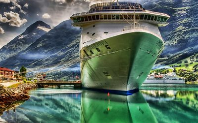 Costa Atlantica, sea, HDR, cruise ships, Costa Crociere, Costa Atlantica Ship