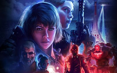 2019, Wolfenstein Youngblood, poster, promo, characters, new games, Wolfenstein
