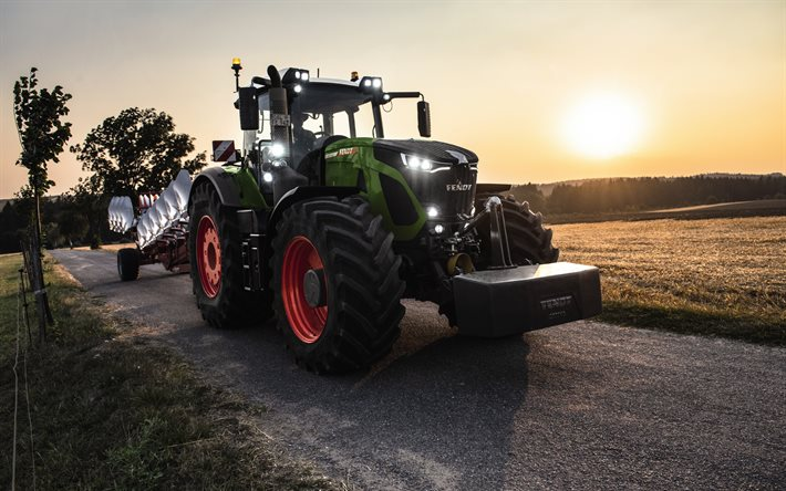 Fendt 900 Vario, reversible plow, modern tractor, new 900 Vario, agricultural machinery, Fendt
