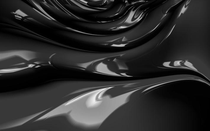 Download Wallpapers 4k Black Abstract Waves 3d Art Abstract Art Black Wavy Background Abstract Waves Surface Backgrounds Black 3d Waves Creative Black Backgrounds Waves Textures For Desktop Free Pictures For Desktop Free