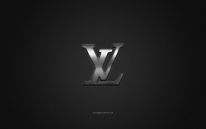 Download Wallpapers Louis Vuitton Logo Metal Emblem Apparel Brand Black Carbon Texture Global Apparel Brands Louis Vuitton Fashion Concept Louis Vuitton Emblem For Desktop Free Pictures For Desktop Free
