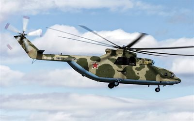 Mi-26, Russian heavy transport helicopter, Mil, Russian Air Force, military helicopters