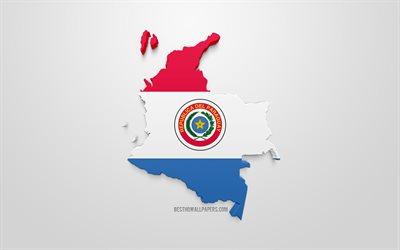 Lataa Kuva 3d Lipun Paraguay Kartta Siluetti Paraguay 3d Art