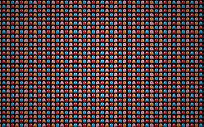 Download Wallpapers Pacman Background Creative Pacman Texture Cartoon Backgrounds Artwork For Desktop Free Pictures For Desktop Free