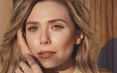Elizabeth Olsen, American Actress, Portrait, Photoshoot, Beautiful Green Eyes, Popular Actresses