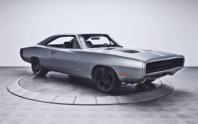 Dodge Charger RT, studio, retro cars, 1969 cars, muscle cars, 1969 Dodge Charger RT, american cars, Dodge
