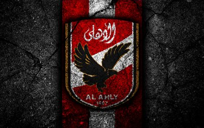Download wallpapers 4k, FC Al Ahly, logo, Egyptian Premier ...