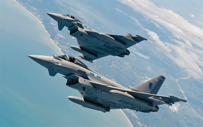 Eurofighter Typhoon, taistelijat, sotilaslentokoneiden, 4 sukupolvi, Royal Air Force, Ei 60 Squadron RAF