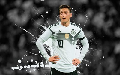Download wallpapers Mesut Ozil, 4k, football stars, grunge, German National Team, footballers ...
