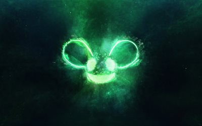 Deadmau5, Canadian DJ, EDM, electronic music, green neon logo, Joel Thomas Zimmerman, Adam Taylor