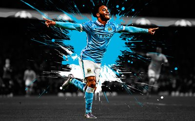 Motorcycles Of Manchester >> Download wallpapers Raheem Sterling, 4k, English football ...