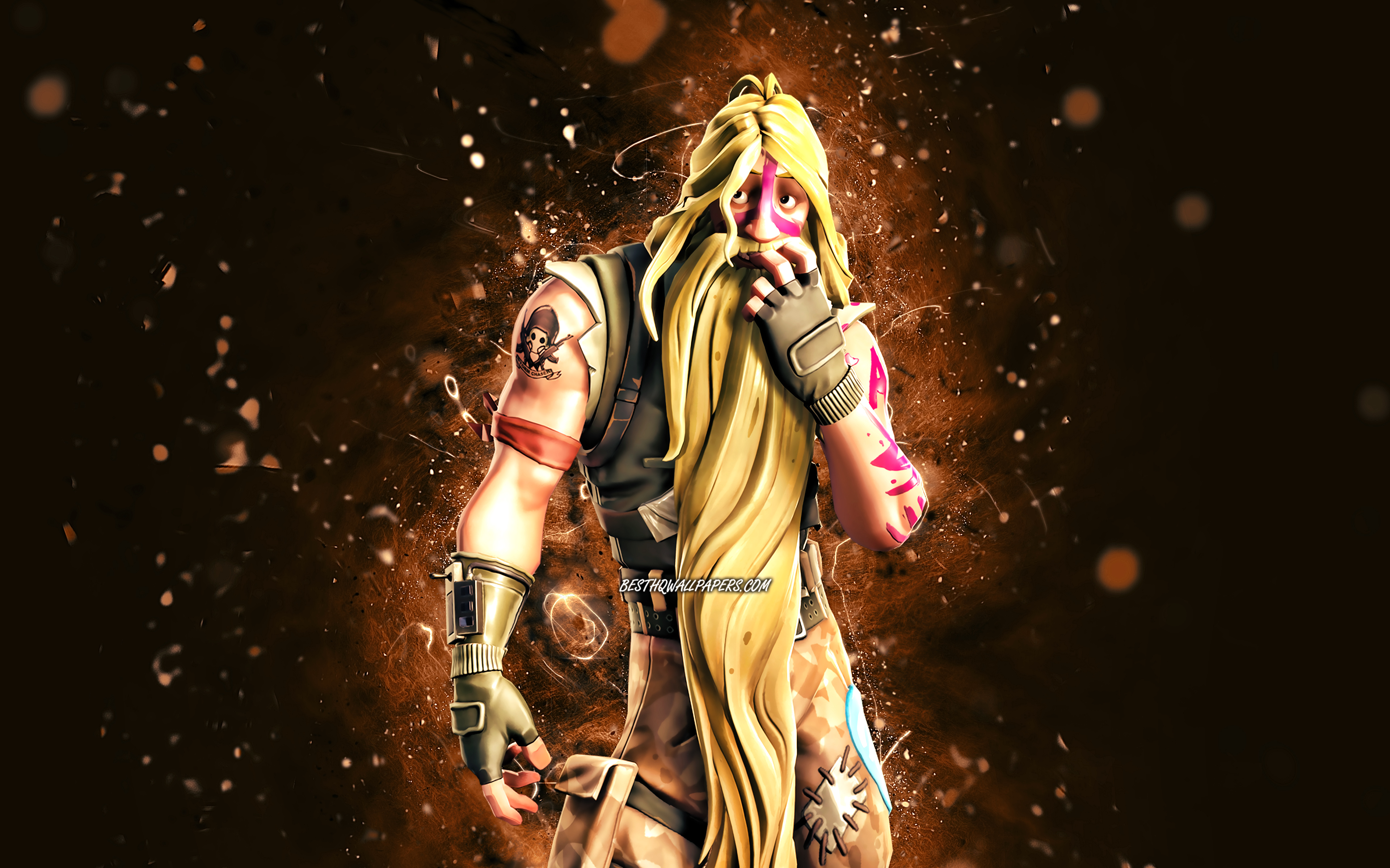 Download Wallpapers Bunker Jonesy 4k Brown Neon Lights Fortnite Battle Royale Fortnite Characters Bunker Jonesy Skin Fortnite Bunker Jonesy Fortnite For Desktop With Resolution 3840x2400 High Quality Hd Pictures Wallpapers