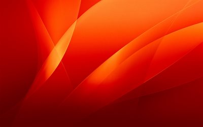 abstract waves, orange background, curves, art, abstract material