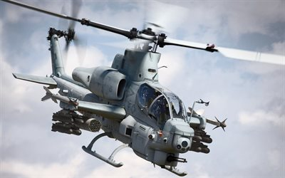 Bell AH-1Z Viper, helicopters, combat aircraft, Bell, attack helicopter
