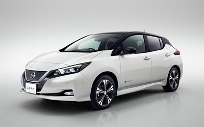 Nissan Leaf Nismo, Concept, 2017, electric car, 4k, new white Leaf, new cars, Japanese cars, Nissan