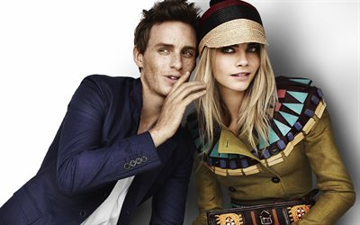 Eddie Redmayne, Cara Delevingne, British actor, celebrities, British top model, British actress