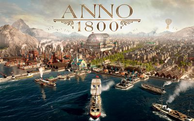 Anno 1800, 2019, poster, promo, strategy, urban planning