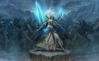Las heladas Lich Jaina, guerrero, Hearthstone Heroes of Warcraft, WoW, Warcraft