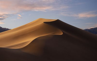 Sand dunes, evening, sunset, sand, desert, Africa