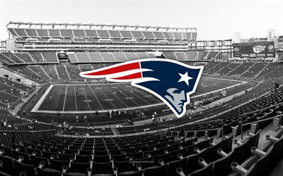New England Patriots, Gillette Stadium, American football team, New England Patriots logo, emblem, New England Patriots Stadium, American football stadium, NFL, American football, Boston, Massachusetts, USA