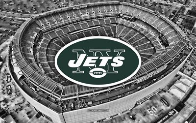 New York Jets, MetLife Stadium, American football team, New York Jets logo, emblem, New York Jets Stadium, American football stadium, NFL, American football, New York, USA