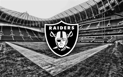 Oakland Raiders, RingCentral Coliseum, American football team, Oakland Raiders logo, emblem, Oakland Raiders Stadium, American football stadium, NFL, American football, Oakland, California, USA