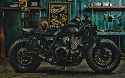Yamaha Yard Built XJR1300, side view, 2019 bikes, superbikes, japanese motorcycles, Yamaha