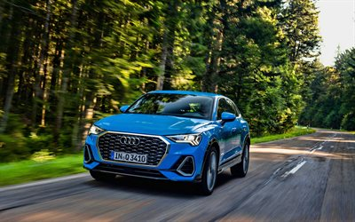 Audi Q3 Sportback, 4k, road, HDR, 2019 cars, crossovers, 2019 Audi Q3 Sportback, german cars, Audi